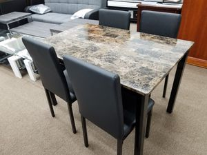 Brand new in box rectangular dining table set table and 4 chairs for Sale in Silver Spring, MD