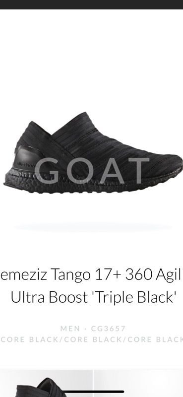 f548d646e Nemesis Tango 17+ 360 Agility Ultra Boost Triple Black Size 10 for ...