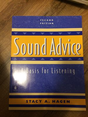 Sound Advice (A basis for Listening) textbook for Sale in Pittsburgh, PA