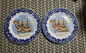Hand Painted Delft Blue Collector Plates ~ Set of 2 for Sale in Woodbridge, VA