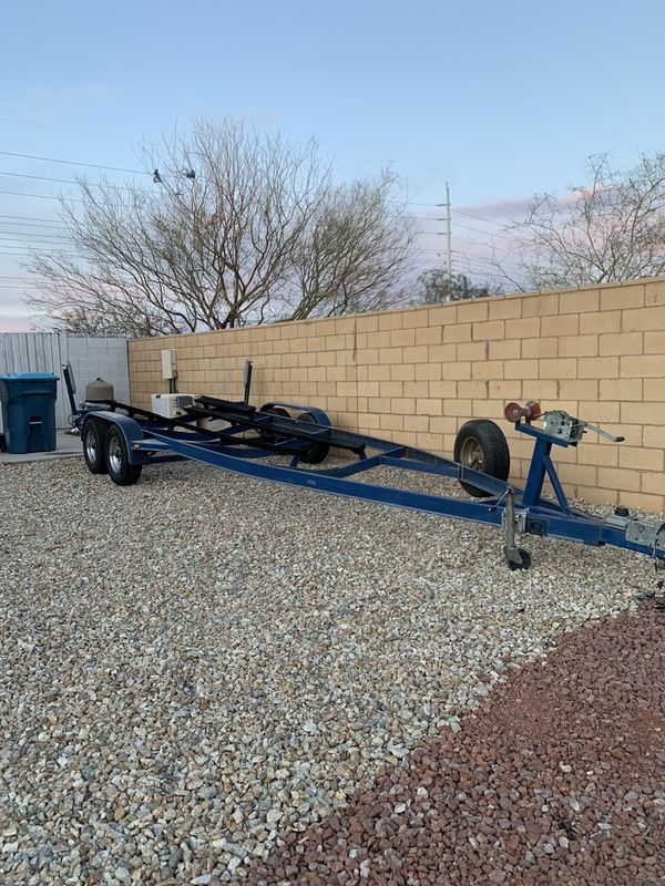 25 foot boat trailer 2 axles