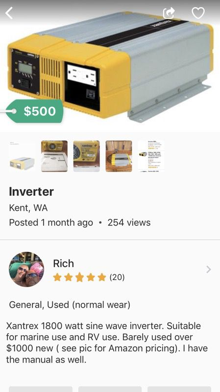 Inverter for Sale in Kent, WA