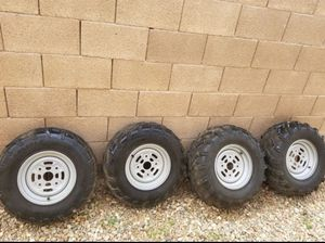 Can am outlander wheels and tires for Sale in Phoenix, AZ