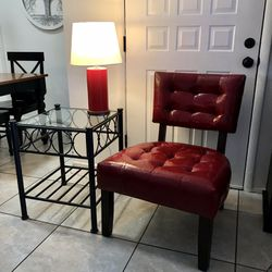 Accent Chair, Table, Lamp Thumbnail