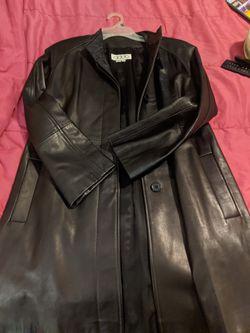 Size 4 Adda soft leather coat. Thumbnail