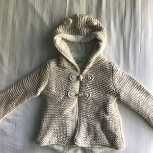 Zara Baby Girl knit coat, white, size: 18-24m 92 cm for Sale in Fairfax, VA
