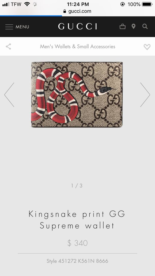 9e16c701ed6 New and Used Gucci wallet for Sale in Watertown