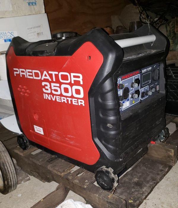 Predator 3500 generator inverter for Sale in Bradley, IL - OfferUp