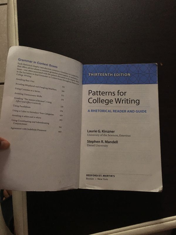 Patterns For College Writing 40th Edition For Sale In Miami FL Enchanting Patterns For College Writing 13th Edition