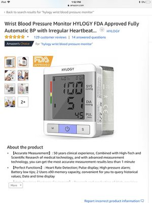 Wrist Blood Pressure Monitor HYLOGY FDA Approved Fully Automatic BP with  Irregular Heartbeat Monitoring, Adjustable Wrist Cuff and Portable Case  Perf