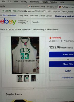 a9512f72c71d Authentic Mitchell   Ness 86-86 Boston Celtics Larry Bird Throwback Jersey  for Sale in