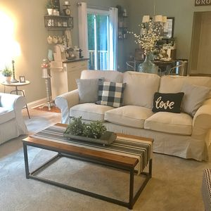 Ikea living room set Ektorp sofa and loveseat - Can Deliver for Sale in Arlington, VA