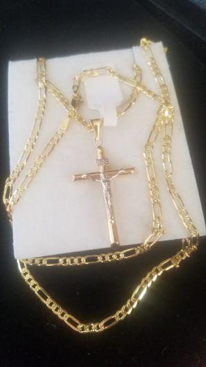 Chain for men real gold 14k measures 24 inches long ( Oro garantizado solido de 14k) for Sale in Manassas, VA