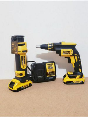 Photo New Kit Dewalt Screwgun and Rotor whit (2) Batteries 2.0AH and Charger FIRM PRICE