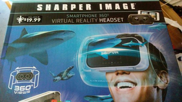 Sharper Image Smartphone 360 Virtual Reality Headset Works With Your
