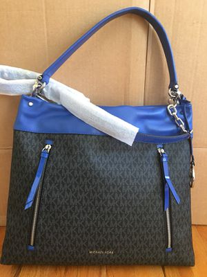 NWT! Michael Kors Lex Large Convertible Hobo Bag Black/ Electric Blue for Sale in Falls Church, VA