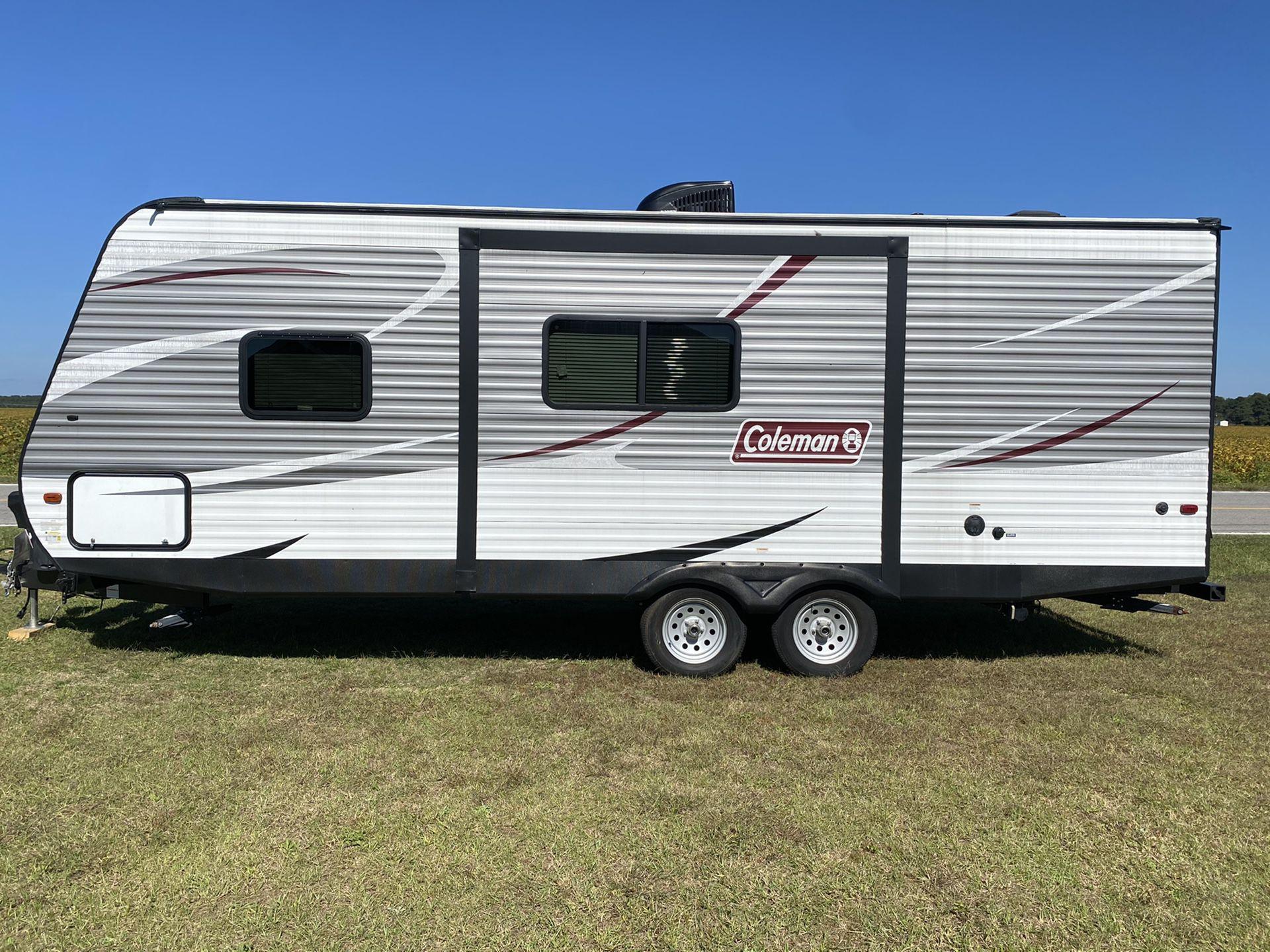 27.7 ft coleman double bunk trailer trailer