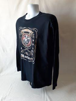 Fruit of the Loom US Marines men's black long sleeve t-shirt size L Thumbnail