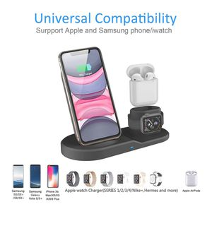 Photo 3 in 1 Wireless Charging Station for Apple, Wireless Charging Stand for Apple Watch and iPhone Airpod
