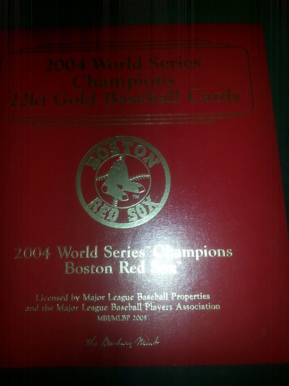 2004 world series redsox 22kt gold cards
