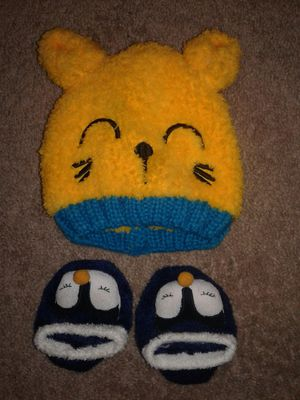 Winter cap and slippers 12- 24 months for Sale in Dulles, VA