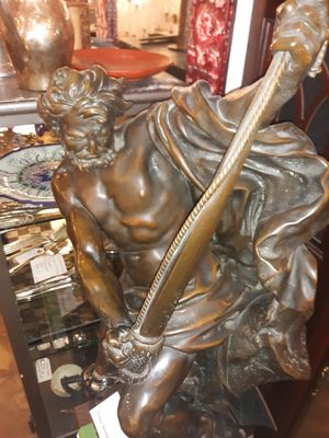 Homer bronze statue Ulysses bending his bow for Sale in New York, NY