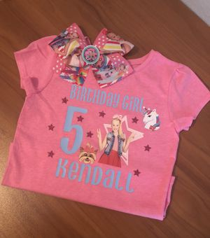Jojo Siwa Birthday Girl Shirt Hair Bow For Sale In San Antonio