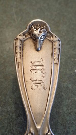 1850s double stamped silver fork for Sale in Sanford, NC