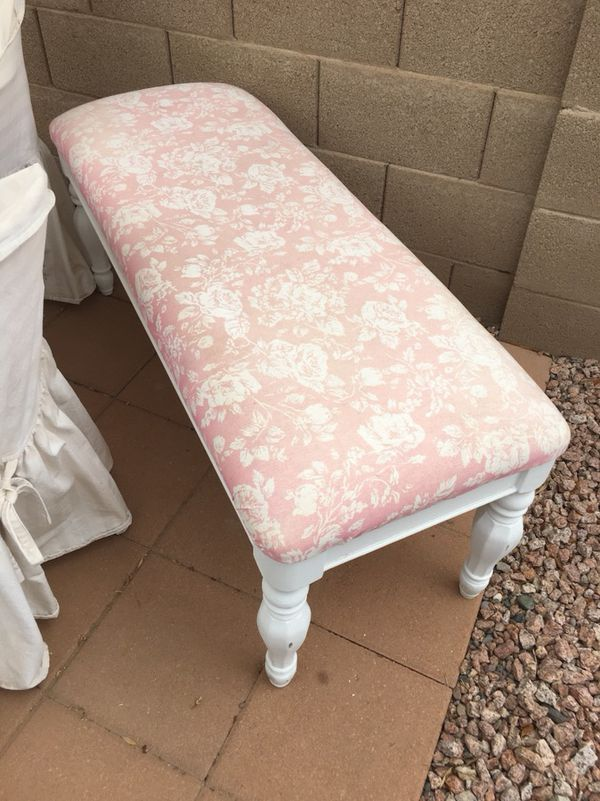 pink htm rebecca blush bench house tufted haute bookmark