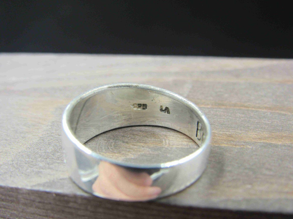 Size 6.5 Sterling Silver Love Life Be Brave Band Ring Vintage Statement Engagement Wedding Promise Anniversary Bridal Cocktail