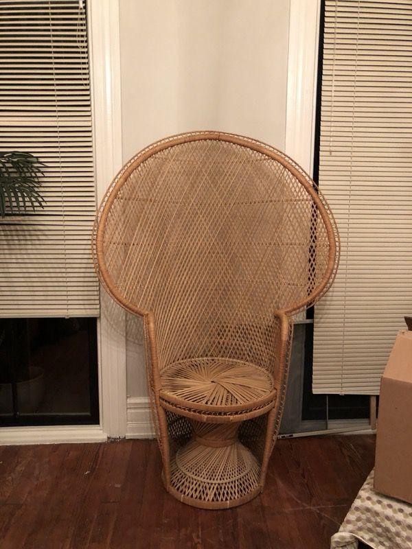 Wicker Tall Princess Chair Richmond Va